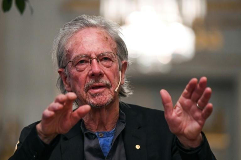 A controversy has swirled around Austrian author Peter Handke being awarded the 2019 Nobel literature prize (AFP Photo/Jonathan NACKSTRAND)