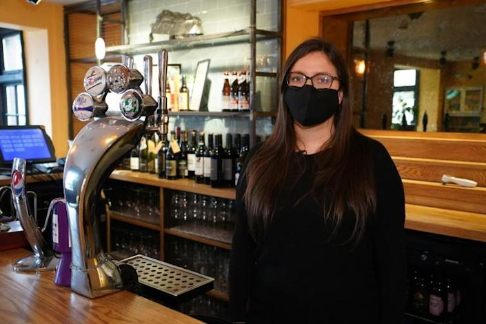 """""""We've had a lot of obstacles thrown at us but we've tried to remain positive,"""" says landlady Emma Parkhouse at the Great Northern pub in St Albans, north of London"""