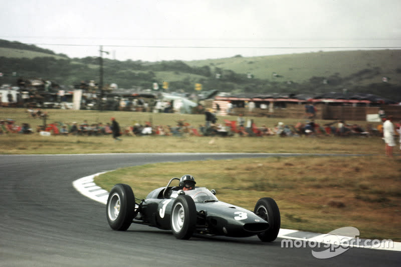 "Graham Hill, BRM P57<span class=""copyright"">Motorsport Images</span>"