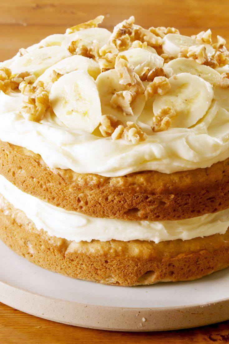 """<p>This cake is BANANAS. </p><p>Get the recipe from <a href=""""https://www.delish.com/cooking/recipe-ideas/a22745193/easy-banana-cake-recipe/"""" rel=""""nofollow noopener"""" target=""""_blank"""" data-ylk=""""slk:Delish"""" class=""""link rapid-noclick-resp"""">Delish</a>. </p>"""