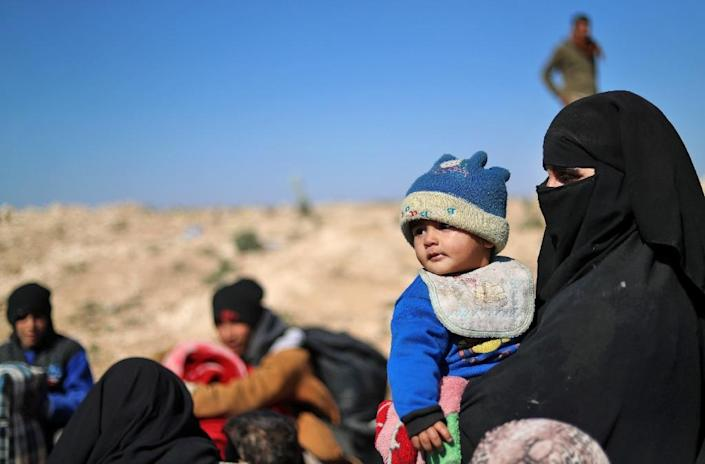 Those who manage to flee say the jihadists have used them as human shields, hoarding food and blocking them from leaving (AFP Photo/Delil souleiman)