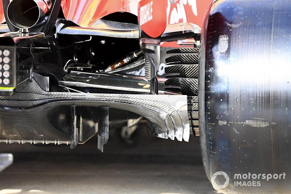 """Floor and suspension details on the Ferrari SF1000<span class=""""copyright"""">Mark Sutton / Motorsport Images</span>"""
