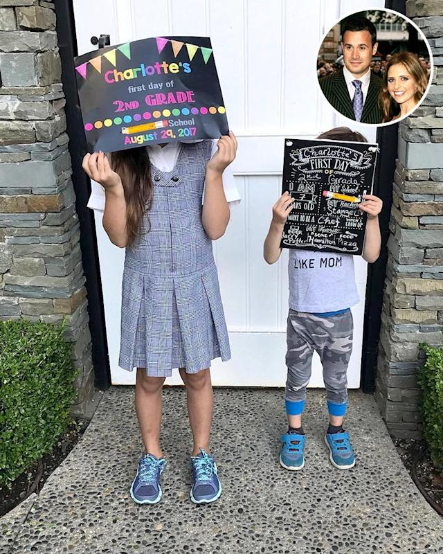 "<p>""And just like that… one is back in school!!"" Sarah Michelle Gellar wrote about her second-grader, Charlotte. She added, ""Second one wishes he was."" LOL. (Photos: <a href=""https://www.instagram.com/p/BYYxe2yjjzb/?hl=en&taken-by=sarahmgellar"" rel=""nofollow noopener"" target=""_blank"" data-ylk=""slk:Sarah Michelle Gellar via Instagram"" class=""link rapid-noclick-resp"">Sarah Michelle Gellar via Instagram</a>/Getty Images)<br><br></p>"