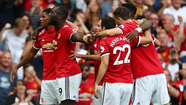 Two goals from £75million signing Romelu Lukaku helped Manchester United defeat West Ham 4-0 in the Premier League.