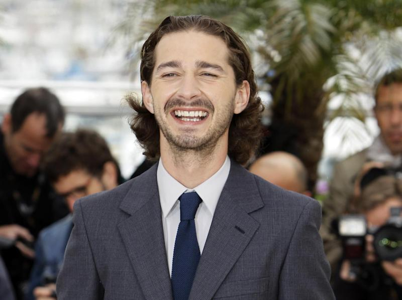 "FILE- In this May 19, 2012, file photo, actor Shia LaBeouf poses during a photo call for Lawless at the 65th international film festival, in Cannes, southern France. Sigur Ros'  new video ""Fjogur Piano"" released Monday, June, 18, features LeBeouf. The video was directed by Alma Har'el and is part of a series of videos being created for the band's latest album ""Valtari."" (AP Photo/Francois Mori, File)"