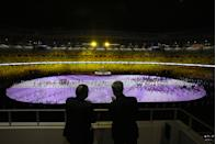 <p>TOKYO, JAPAN - JULY 23: VIP's are seen during the Opening Ceremony of the Tokyo 2020 Olympic Games at Olympic Stadium on July 23, 2021 in Tokyo, Japan. (Photo by Leon Neal/Getty Images)</p>