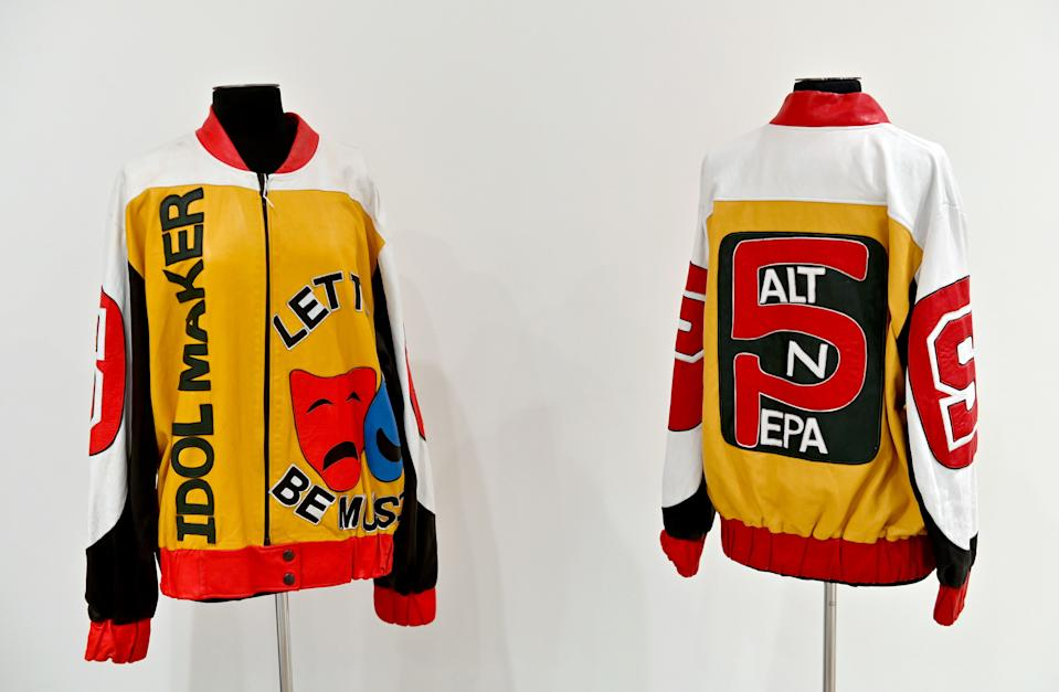 "Salt-N-Pepa's personal ""Push It"" jackets worn their Geico commercial. (Photo: Angela Weiss/AFP via Getty Images)"