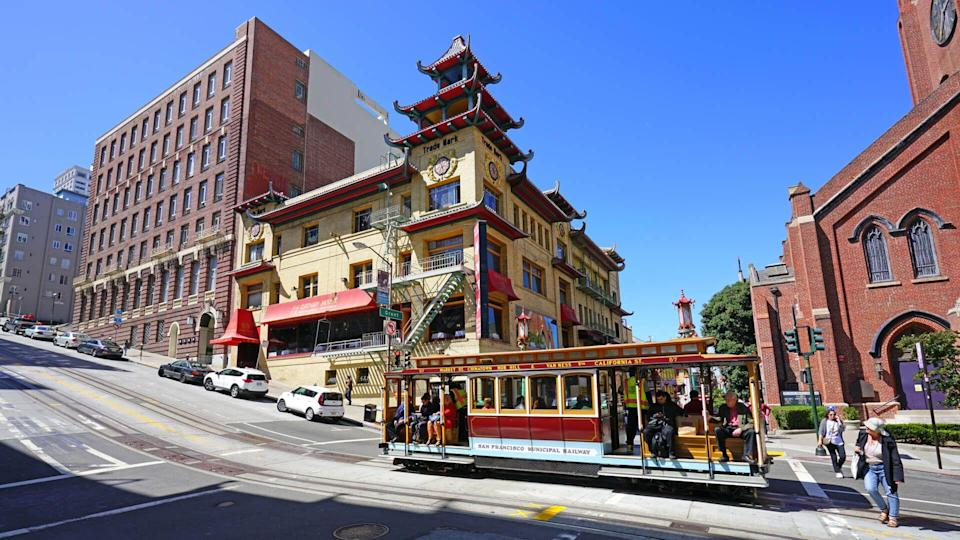 SAN FRANCISCO, CA -31 AUG 2017- The Chinatown neighborhood of San Francisco is the oldest Chinatown in the United States and the largest Chinese community outside Asia.