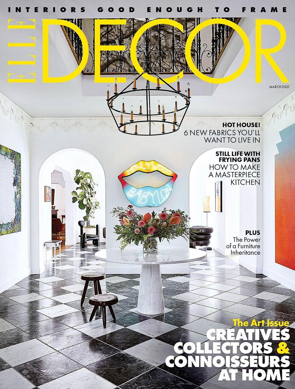 """<p><em>This story originally appeared in the March 2021 issue of </em>ELLE Decor. <a class=""""link rapid-noclick-resp"""" href=""""https://subscribe.hearstmags.com/subscribe/splits/elledecor/edccsb"""" rel=""""nofollow noopener"""" target=""""_blank"""" data-ylk=""""slk:SUBSCRIBE"""">SUBSCRIBE</a></p>"""