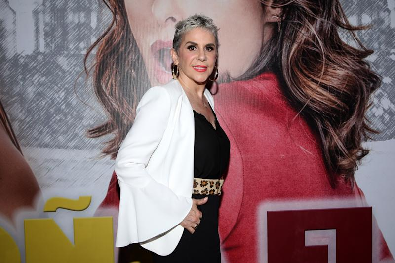 MEXICO CITY, MEXICO - MARCH 21: Rebecca Jones poses for photos during the presentation of Televisa's Soap Opera 'Doña Flor y Sus Dos Maridos' at Televisa San Angel on March 21, 2019 in Mexico City, Mexico. (Photo by Medios y Media/Getty Images)