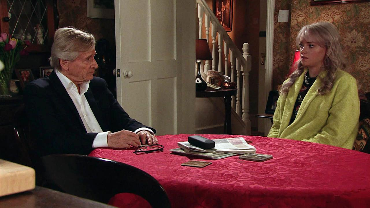 "<p>He urges her to set Daniel free, not wanting him to have a ""wasted life"" like he had with Deirdre. And to make matters worse, Tracy hears every word...</p>"