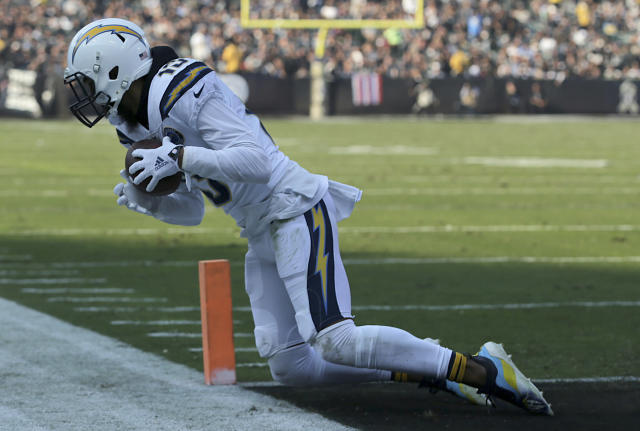 Keenan Allen could have a tough time scoring another TD in Week 11. (AP Photo/John Hefti)