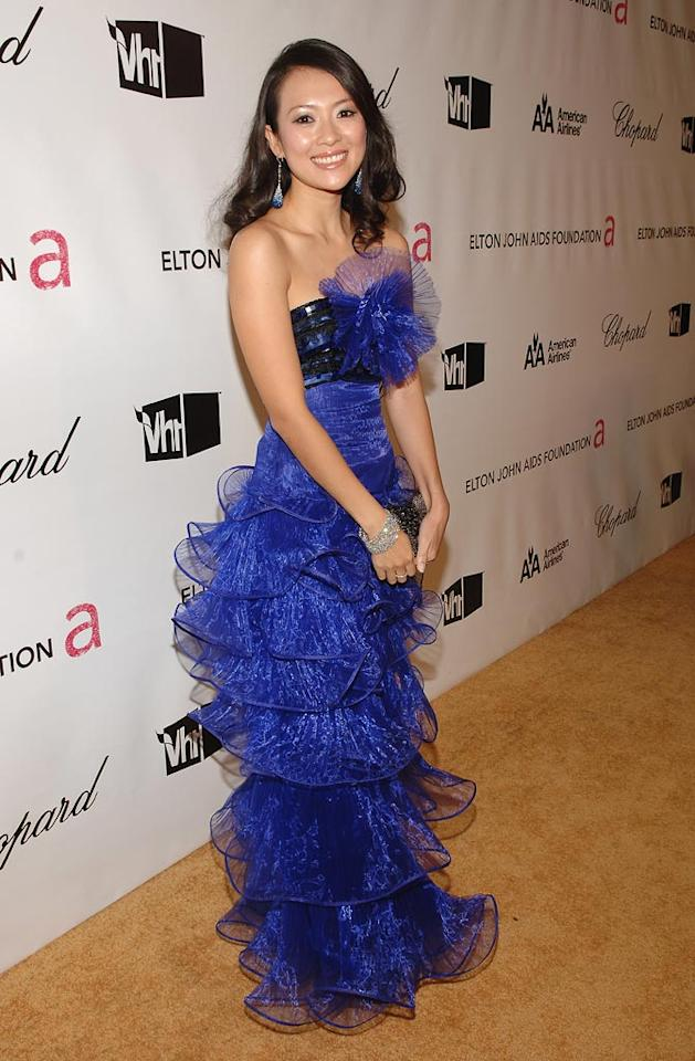 "<a href=""http://movies.yahoo.com/movie/contributor/1808615649"">Zhang Ziyi</a> at the 16th Annual Elton John AIDS Foundation Oscar Party at the Pacific Design Center in West Hollywood - 02/24/2008"