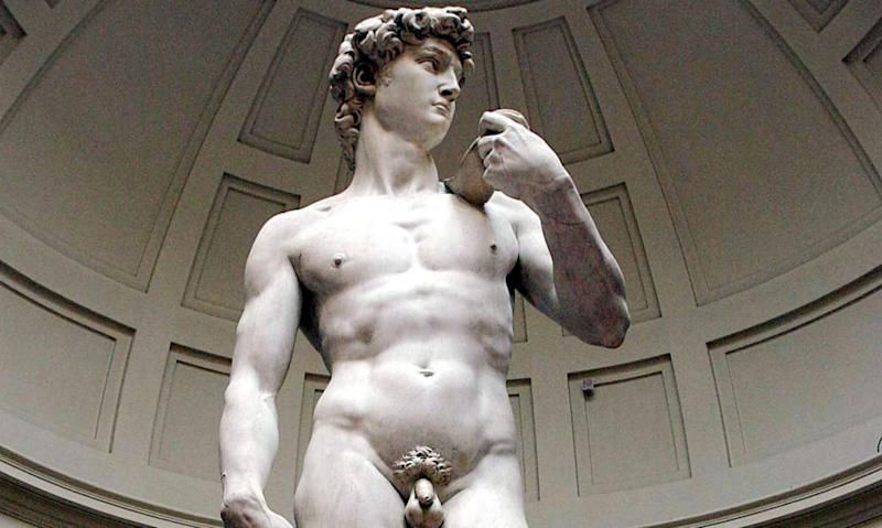 Michelangelo's marble statue of David at Florence's Accademia Gallery