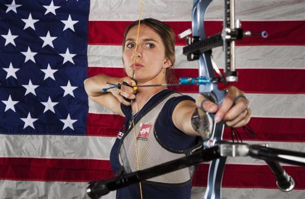 Archer Jennifer Nichols poses for a portrait during the 2012 U.S. Olympic Team Media Summit in Dallas, May 13, 2012.