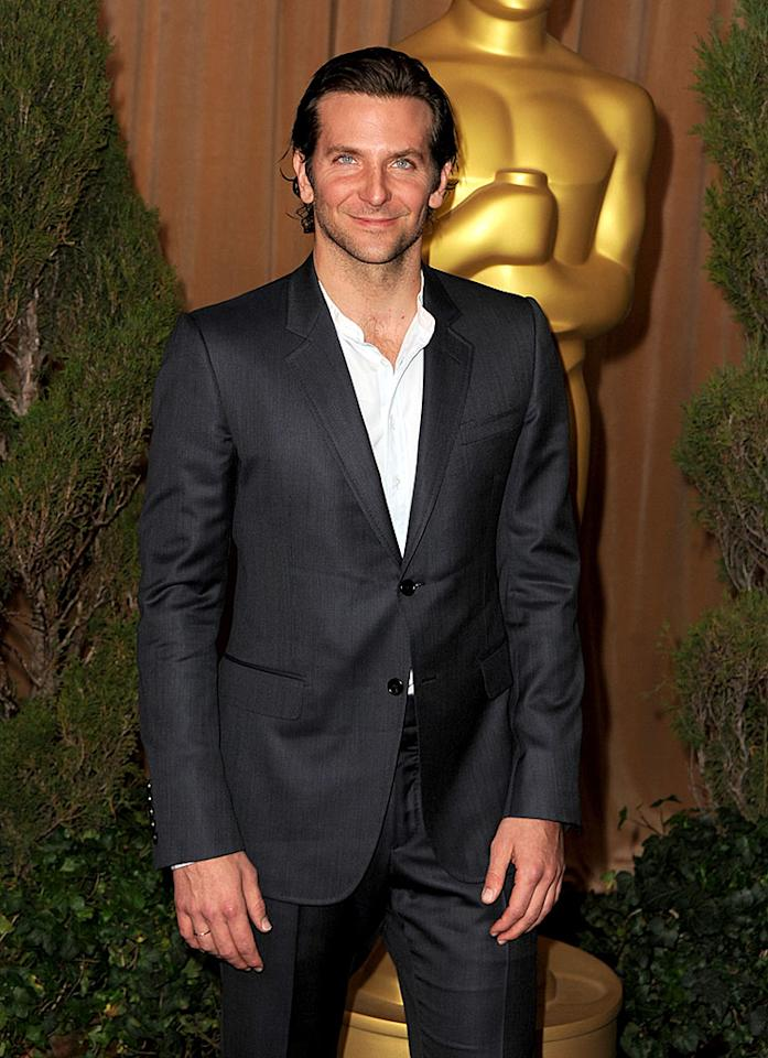 BEVERLY HILLS, CA - FEBRUARY 04:  Actor Bradley Cooper attends the 85th Academy Awards Nominations Luncheon at The Beverly Hilton Hotel on February 4, 2013 in Beverly Hills, California.  (Photo by Kevin Winter/Getty Images)