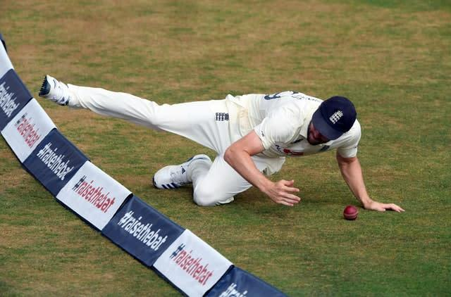 Chris Woakes stopped a boundary (Stu Forster/PA)