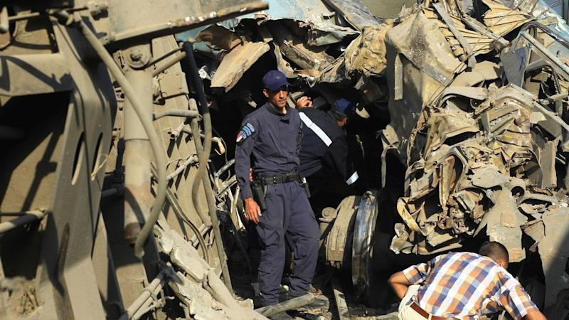 At least 36 people are dead and more than 100 injured after two trains crashed in Egypt.