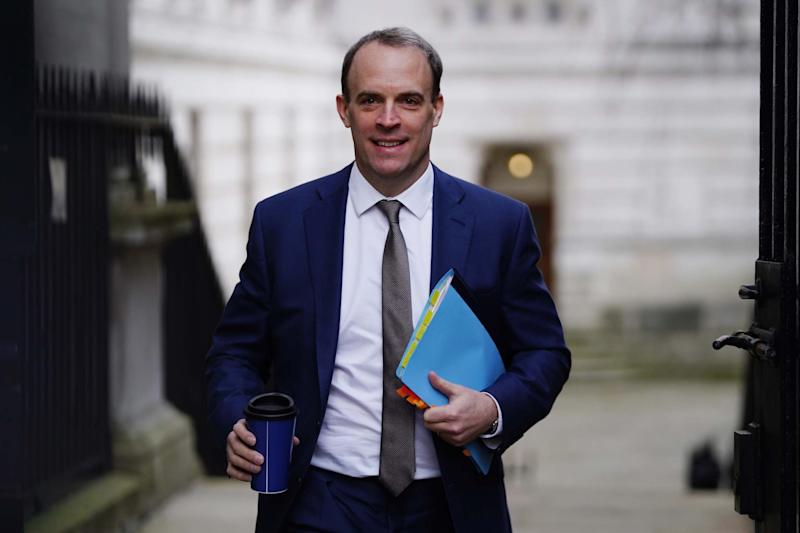 Foreign Secretary Dominic Raab appeared to say he would have extradited Sacoolas if he were Pompeo (Getty Images)