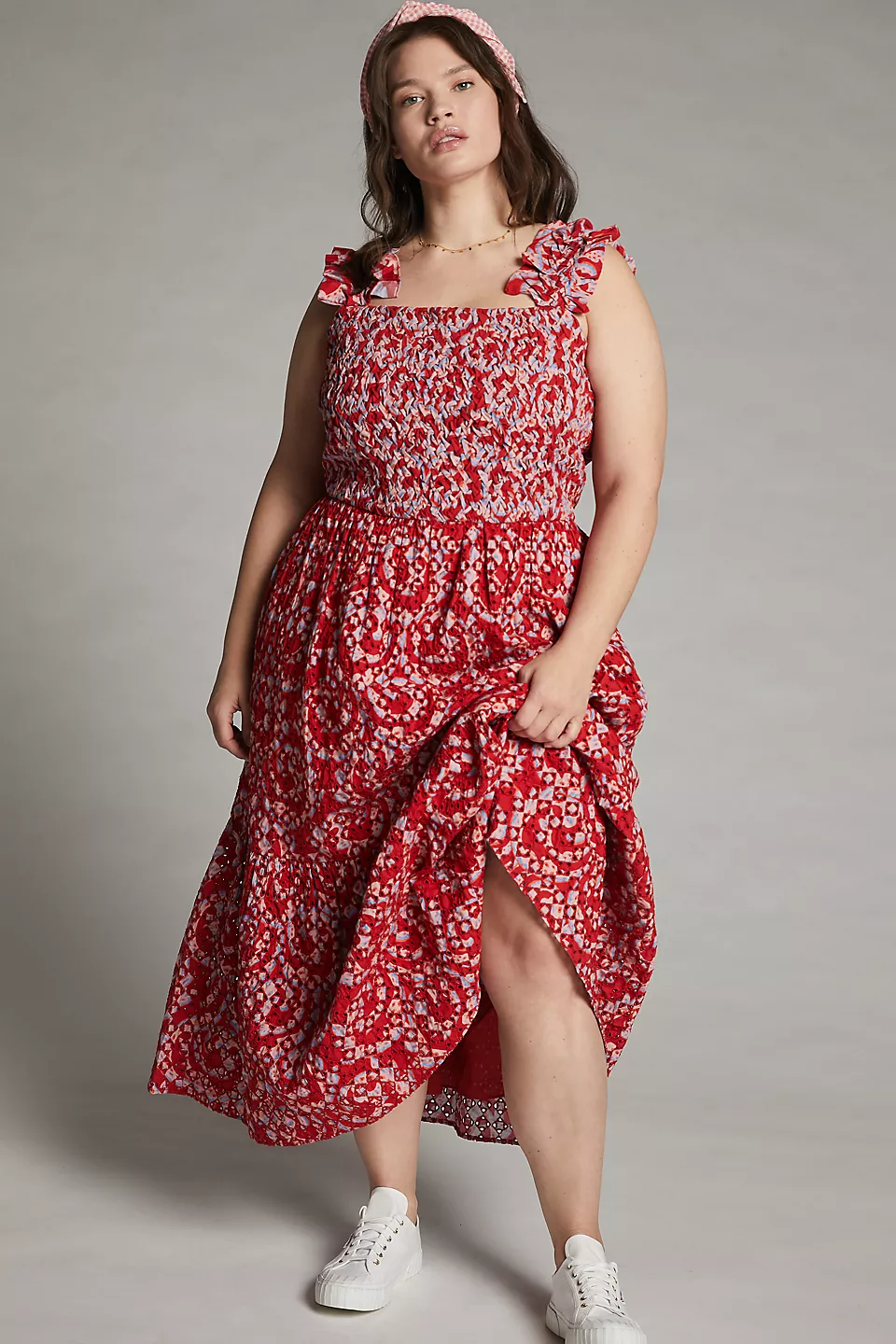 """<h2>Anthropologie</h2><br><strong>Best For: </strong>Cottage Core Meets Boho Chic <br><strong>Size Range: </strong>00-26<br><br>Anthropologie is good for embracing your inner hippie and prairie dweller alike. It's great for fun patterned dresses and unique jumpsuits. Jump to here if you have a wedding to attend when the Panny-D calms down! <br><br><em>Shop <a href=""""https://www.anthropologie.com/plus-size-clothing"""" rel=""""nofollow noopener"""" target=""""_blank"""" data-ylk=""""slk:Anthropologie"""" class=""""link rapid-noclick-resp""""><strong>Anthropologie</strong></a></em><br><br><strong>Atelier 1756</strong> Amal Embroidered Midi Dress, $, available at <a href=""""https://go.skimresources.com/?id=30283X879131&url=https%3A%2F%2Fwww.anthropologie.com%2Fshop%2Famal-embroidered-midi-dress"""" rel=""""nofollow noopener"""" target=""""_blank"""" data-ylk=""""slk:Anthropologie"""" class=""""link rapid-noclick-resp"""">Anthropologie</a>"""