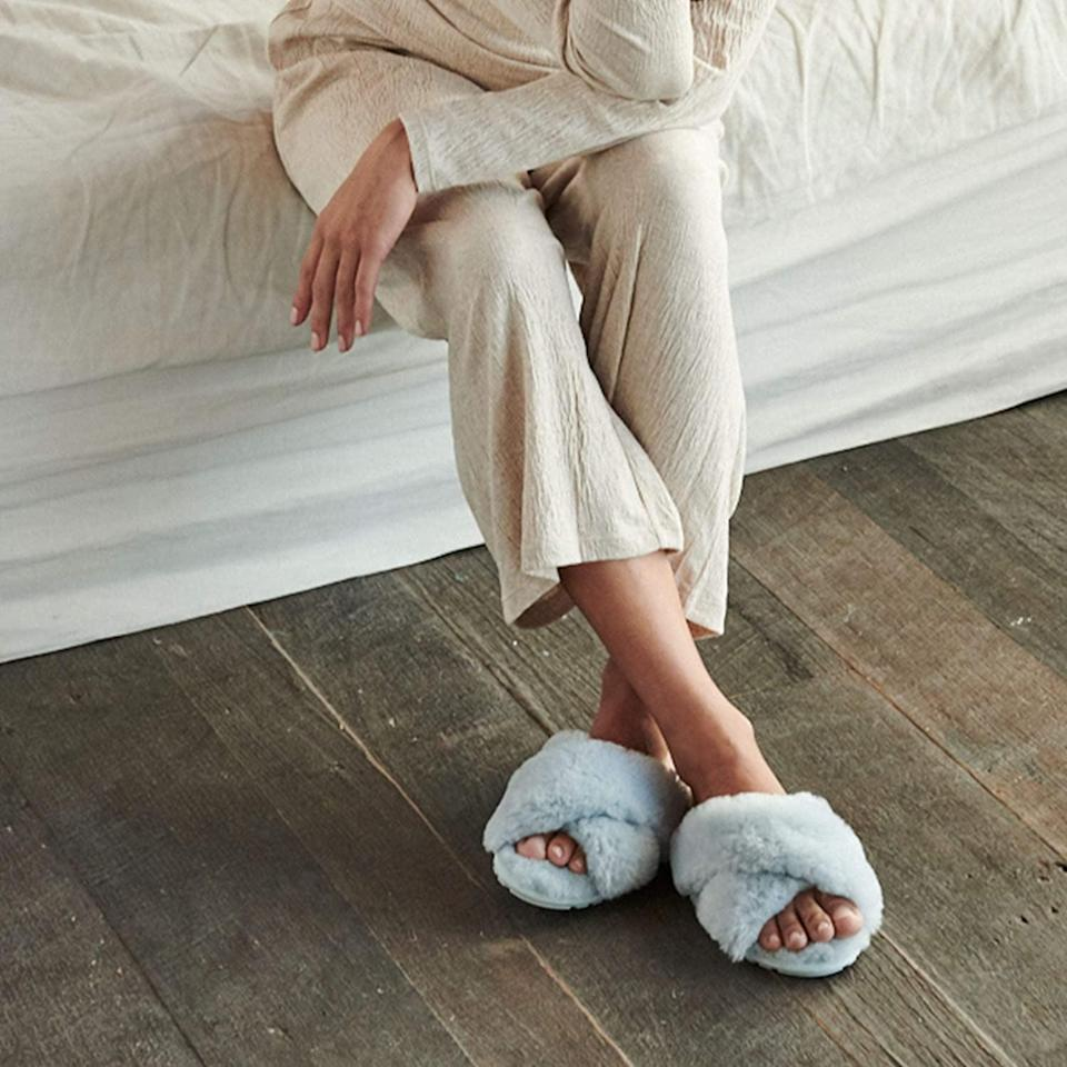 <p>The pastel shade of these <span>EMU Australia Mayberry Slippers</span> ($60) is perfect.</p>