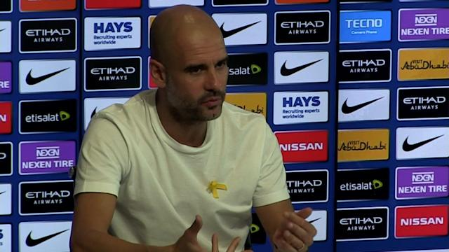 Manchester City manager Pep Guardiola pre match press conference v Swansea - SUBJECT: Arsene Wenger