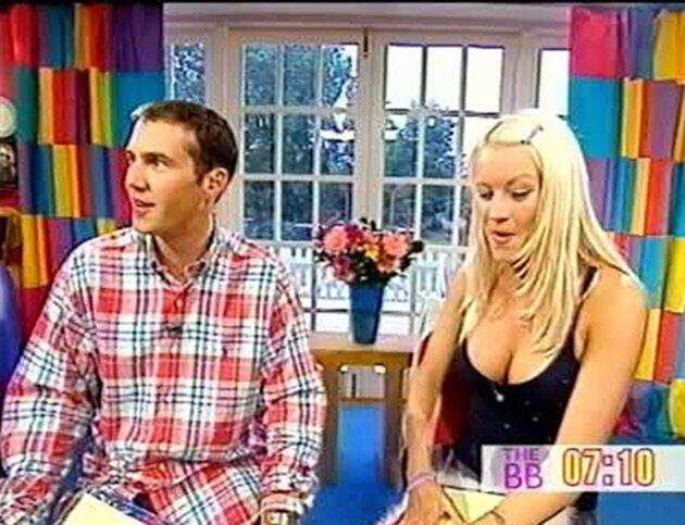 Johnny Vaughn and Denise Van Outen on The Big Breakfast (Photo: Channel 4)