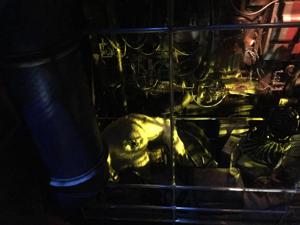 <p>Among the creatures lurking in the Collector's collection appears to be a Yeti, which was indeed a character from Marvel Comics. (Photo: Marcus Errico/Yahoo Movies) </p>