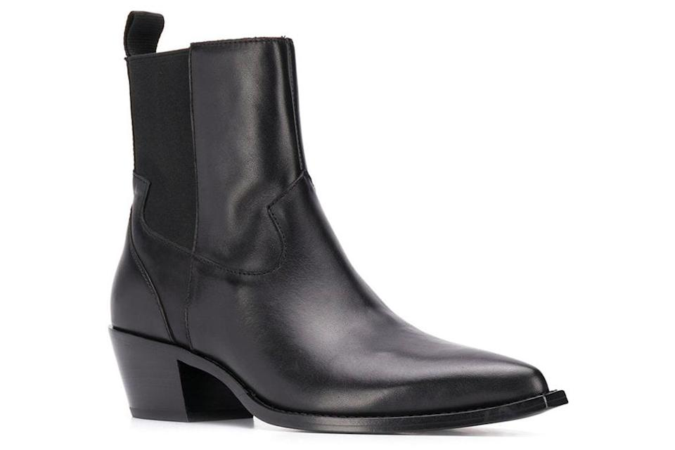 black boots, booties, leather, ash