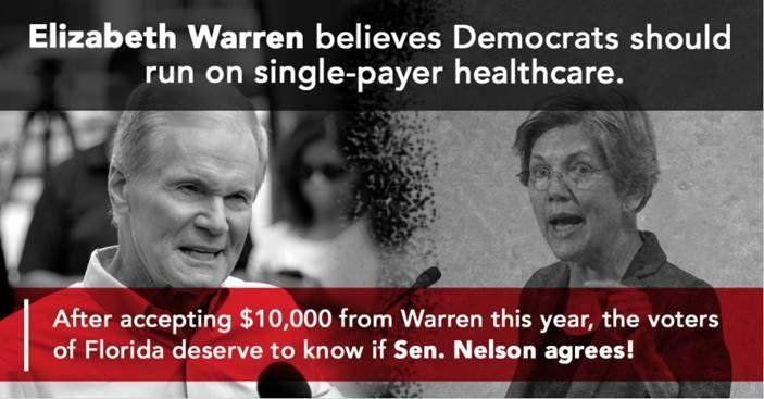 The Republican National Committee intends to make Sen. Bill Nelson (D-Fla.) pay a price for his colleagues' support of single payer.