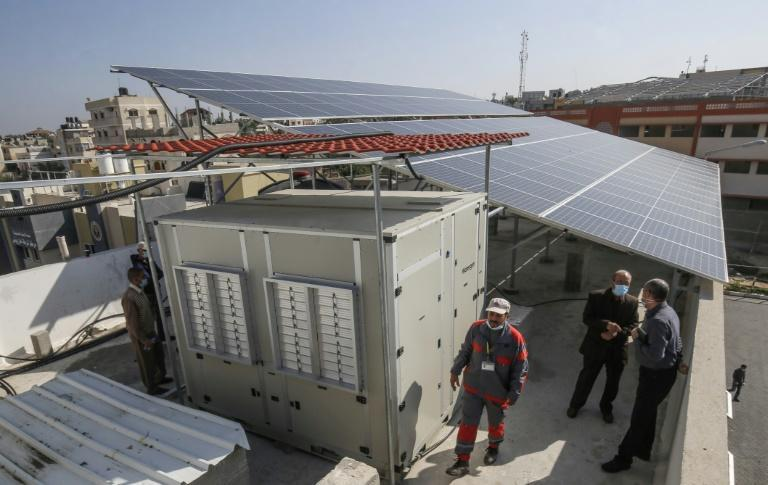 Watergen's technology is suited to Gaza because it runs on solar panels, an asset in the enclave where the one power plant lacks the capacity to meet demand