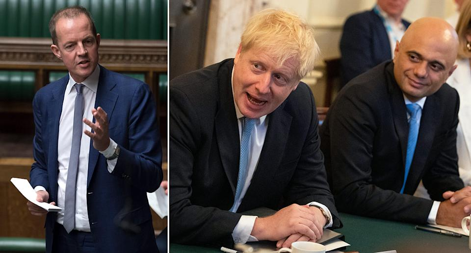 The Independent (left) MP condemned the cabinet of new Prime Minister Boris Johnson. (PA)