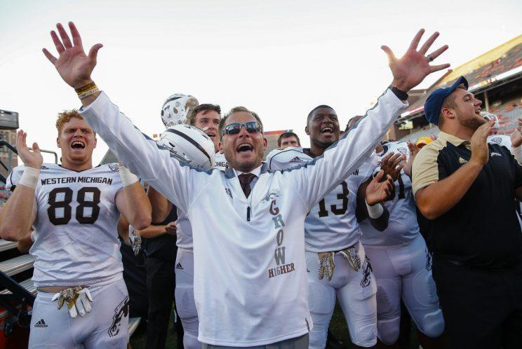 P.J. Fleck is one of the hottest coaching prospects in college football. (Getty Images)