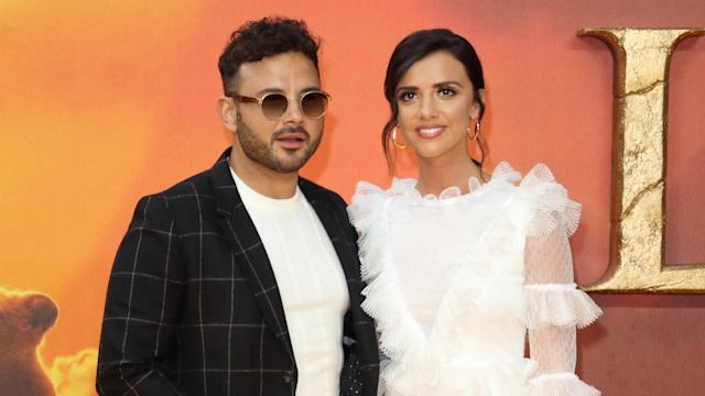 Lucy Mecklenburgh and Ryan Thomas at the European Premiere of The Lion King, Odeon Cinema, Leicester Square, London