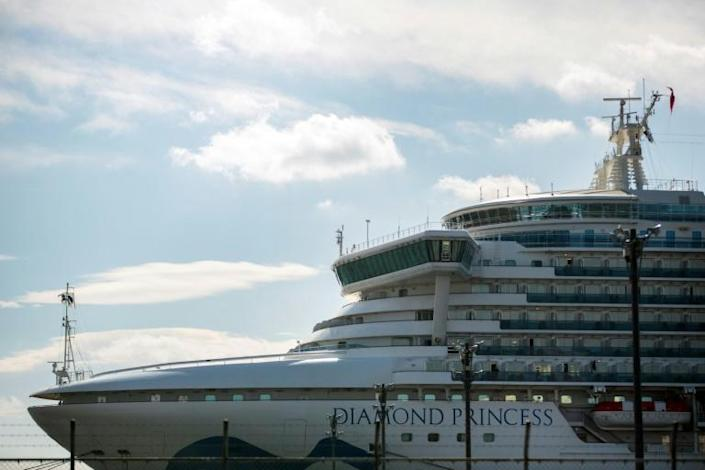 The atmosphere is in stark contrast to the gloom encasing the Diamond Princess, a quarantined Japanese cruise ship riddled with the virus (AFP Photo/Behrouz MEHRI)