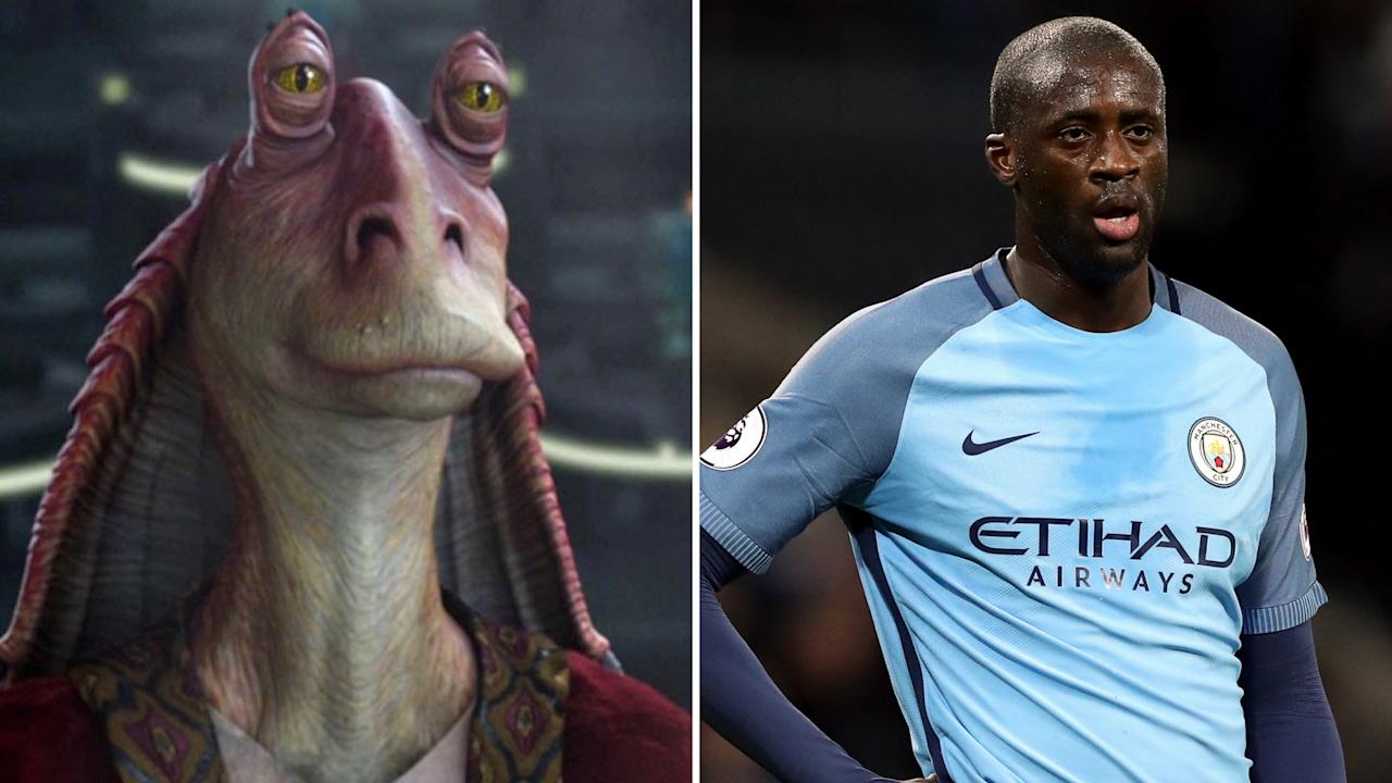 <p>Jar Jar Toure – The Man City midfielder isn't quite as annoying as most people think this Phantom Menace character is. </p>
