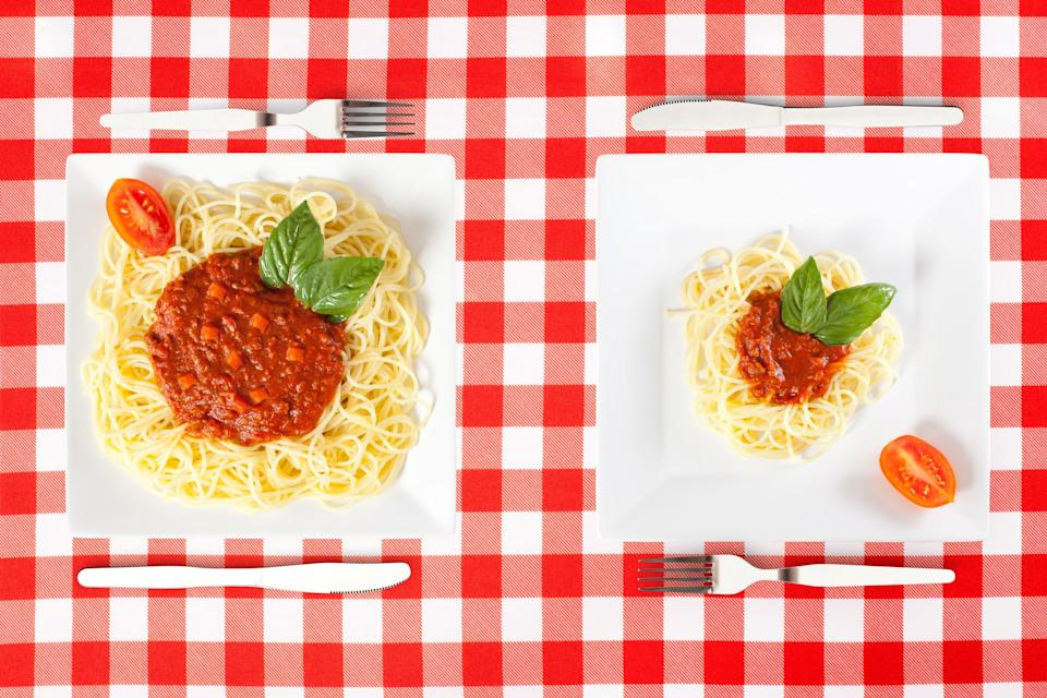 New guidance advising on portion size has been launched by the British Nutrition Foundation [Photo: Getty]