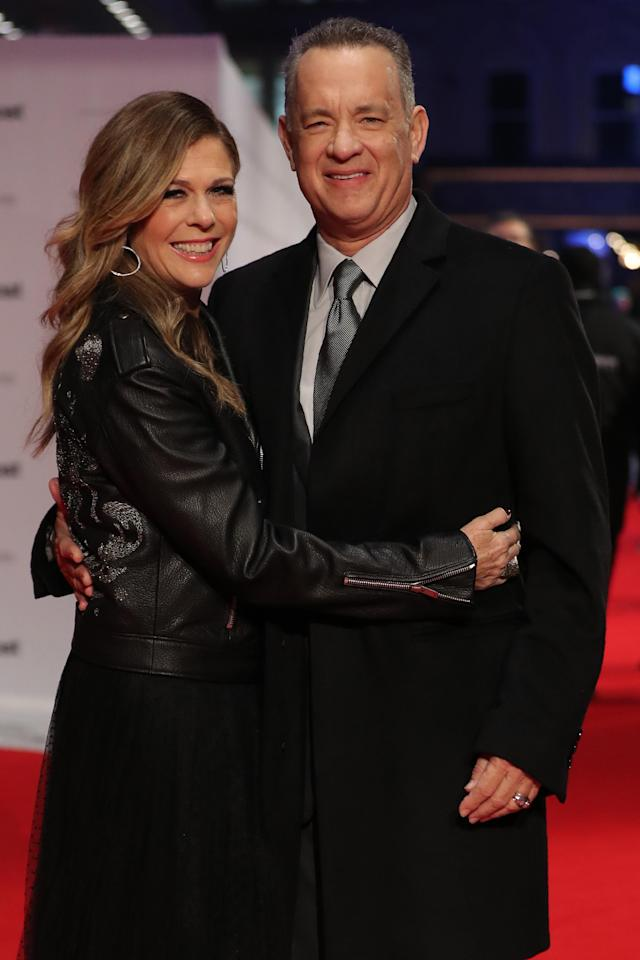 Rita Wilson and Tom Hanks have been married 30 years today. (Photo: Daniel Leal-Olivas/AFP/Getty Images)