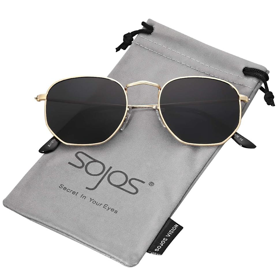 """<h2>SOJOS Small Square Polarized Sunglasses</h2><br>A top score from our coverage of the <a href=""""https://www.refinery29.com/en-us/2021/05/10484021/best-amazon-memorial-day-sales-deals"""" rel=""""nofollow noopener"""" target=""""_blank"""" data-ylk=""""slk:best Amazon Memorial Day deals"""" class=""""link rapid-noclick-resp"""">best Amazon Memorial Day deals</a>, these cool unisex sunnies are polarized AND still on sale for 40% off their usual price.<br><br><em>Shop <strong><a href=""""https://amzn.to/3g6kcgQ"""" rel=""""nofollow noopener"""" target=""""_blank"""" data-ylk=""""slk:Amazon"""" class=""""link rapid-noclick-resp"""">Amazon</a></strong></em><br><br><strong>Sojos</strong> Small Square Polarized Sunglasses Polygon Mirrored Lens, $, available at <a href=""""https://amzn.to/3v9GLHL"""" rel=""""nofollow noopener"""" target=""""_blank"""" data-ylk=""""slk:Amazon"""" class=""""link rapid-noclick-resp"""">Amazon</a>"""