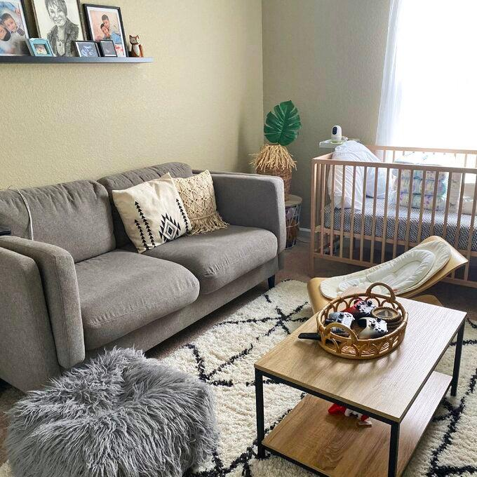 """<h2>Laurel Foundry Modern Farmhouse Bronson Coffee Table</h2><br><strong>Deal: 13% Off</strong><br>For those wondering if this tiered-coffee-table bestseller was small-space savvy enough to fit into a room that also functions as a living-room-meets-baby-nursery, according to this customer-review picture, the answer is yes — yes, it is. <br><br><strong>Laurel Foundry Modern Farmhouse</strong> Bronson Coffee Table, $, available at <a href=""""https://go.skimresources.com/?id=30283X879131&url=https%3A%2F%2Fwww.wayfair.com%2Ffurniture%2Fpdp%2Fbronson-coffee-table-w002922392.html"""" rel=""""nofollow noopener"""" target=""""_blank"""" data-ylk=""""slk:Wayfair"""" class=""""link rapid-noclick-resp"""">Wayfair</a>"""