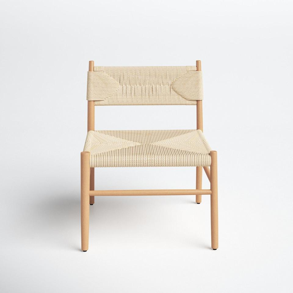 <p>This cool and chic <span>Joss &amp; Main Daleyza Wide Side Chair</span> ($460, originally $541) has a costal feel to it and comes in a neutral color that makes it easy to blend with the rest of your decor. It would look great in your bedroom or dining room.</p>