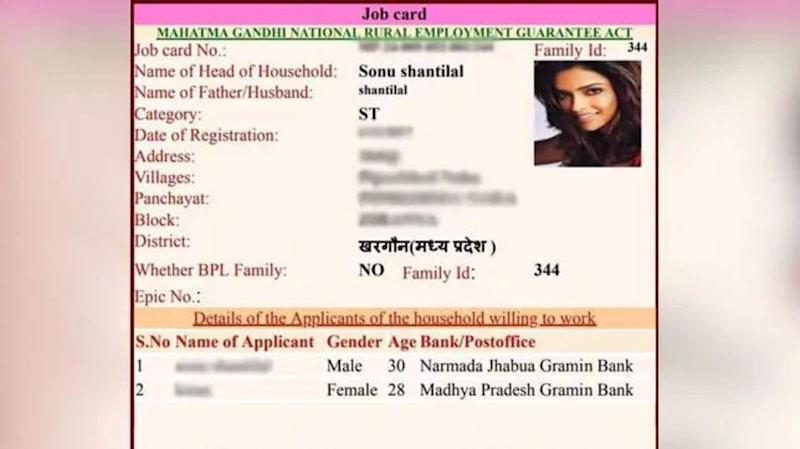 MP: Deepika Padukone, other actors on fake rural job cards