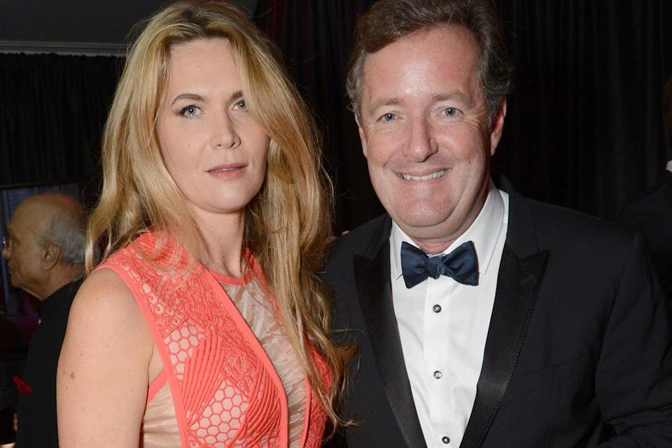 Fears: TV presenter Piers Morgan, pictured with his wife Celia Walden (Rex)