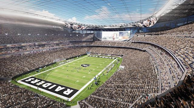 Las Vegas's vision: a full NFL stadium-with locals and tourists alike.