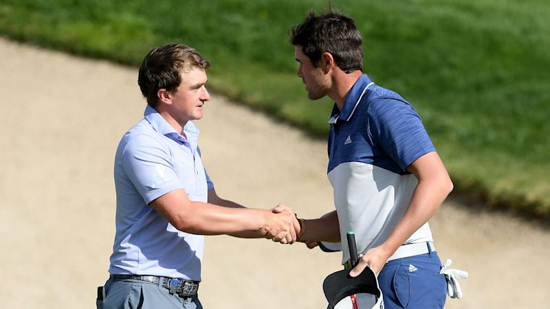Dunne's lead clipped as home hopes Elvira and Rahm close in