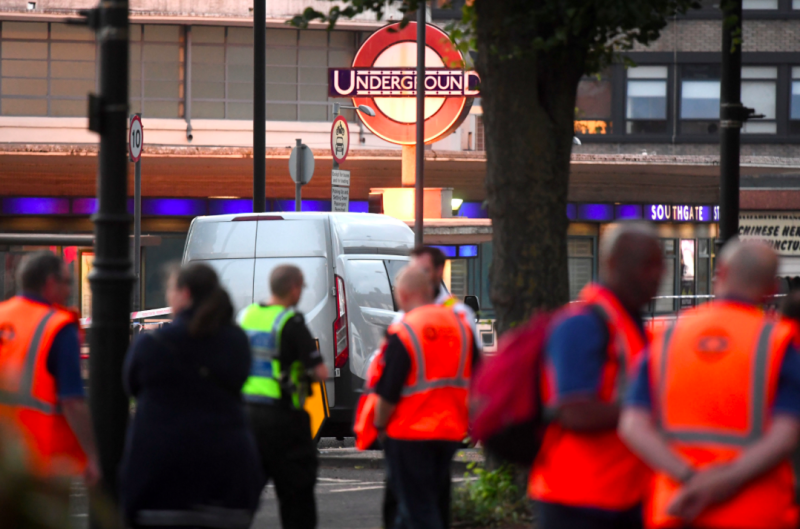 Man arrested after explosion at Southgate Underground station