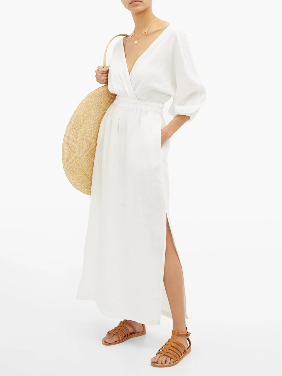 "Not only is this dress made of 100% sustainable linen, it's also perfect for the vacation your mom's been dreaming of ever since she went into self-quarantine. Maybe once we can travel again, you can take her on that trip. <br> <br> <strong>Mara Hoffman</strong> Nami Balloon Sleeve Linen Maxi Dress, $, available at <a href=""https://go.skimresources.com/?id=30283X879131&url=https%3A%2F%2Fwww.matchesfashion.com%2Fus%2Fproducts%2FMara-Hoffman-Nami-balloon-sleeve-linen-maxi-dress--1286834"" rel=""nofollow noopener"" target=""_blank"" data-ylk=""slk:Matches Fashion"" class=""link rapid-noclick-resp"">Matches Fashion</a>"