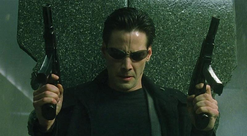 Keanu Reeves in The Matrix (Credit: Warner Bros)