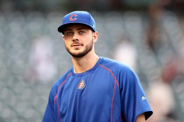 Kris Bryant took BP off a Hall of Famer and didn't even know it. (Getty Images/Elsa)