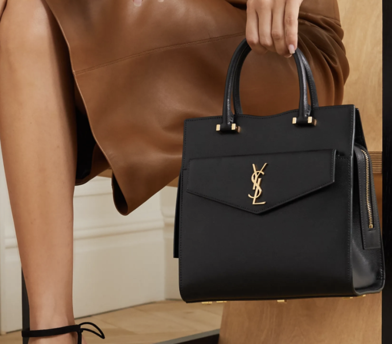 Saint Laurent leather tote. (PHOTO: Net-A-Porter)